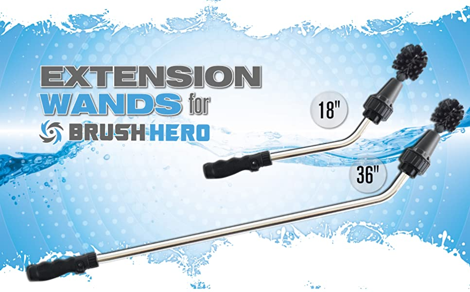 Amazon Com Brush Hero Extension Wand 18 Quot Garden Hose