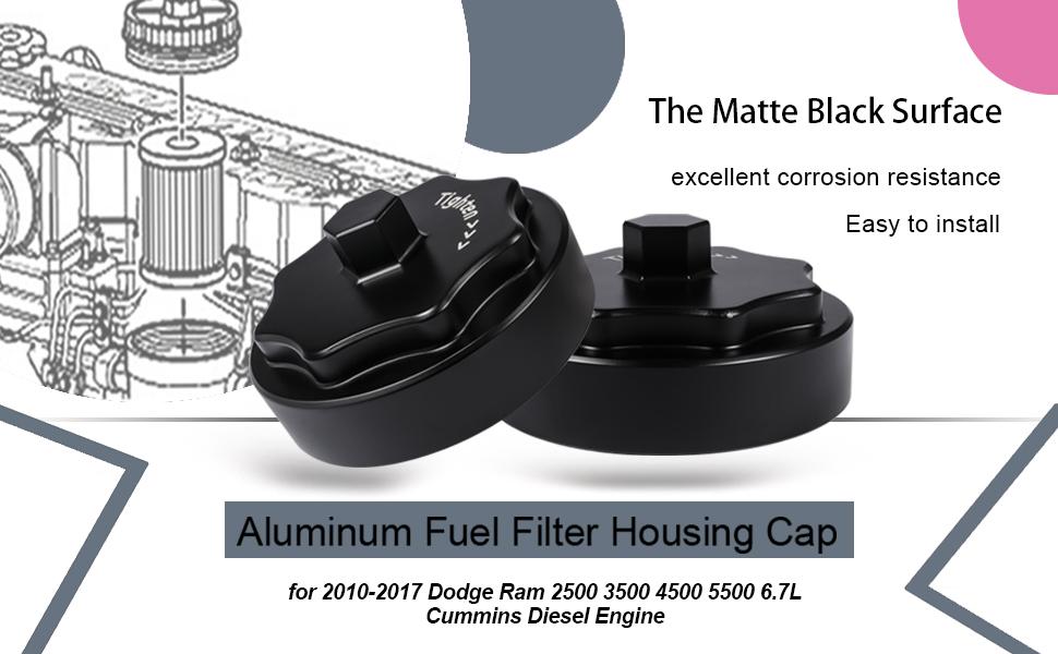 get a new billet aluminum fuel filter housing cap for your dodge ram diesel  engine!