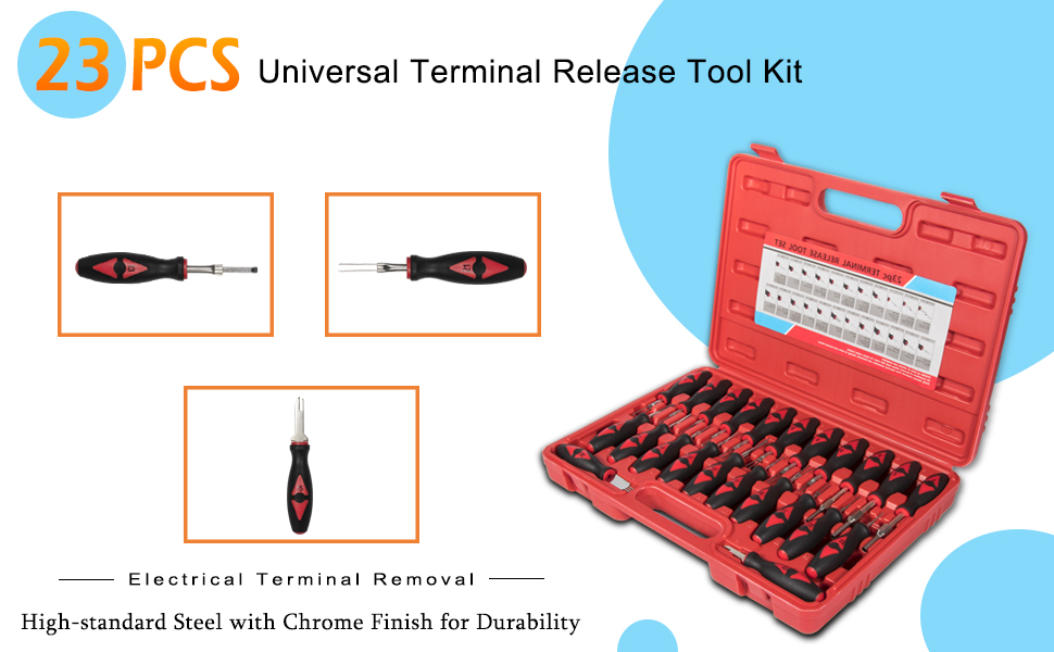 19 x Connector Release Master Electrical Terminal Block Tool Kit+Case Universal