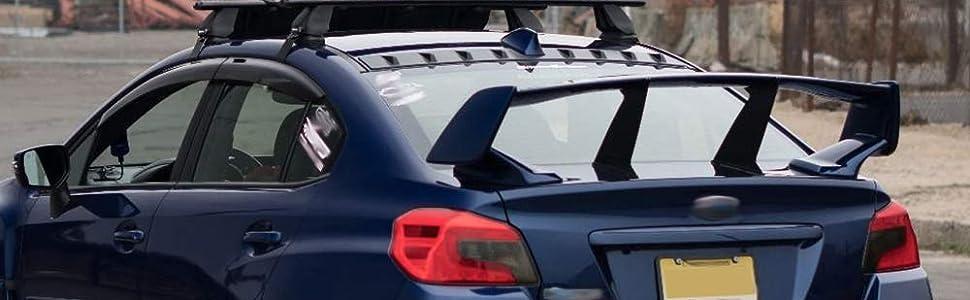 for Subaru Impreza WRX STI 2002 2003 2004 2005 2006 2007 Rear Truck Spoiler Wings STABILIZER 4PCS with 3M Tape