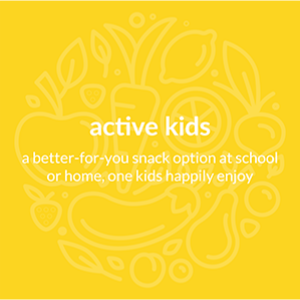 active kids, a better for you snack option at school or home, one kids enjoy