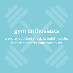 gym enthusiasts, a protein packed snack to build muscle, before and after your workouts