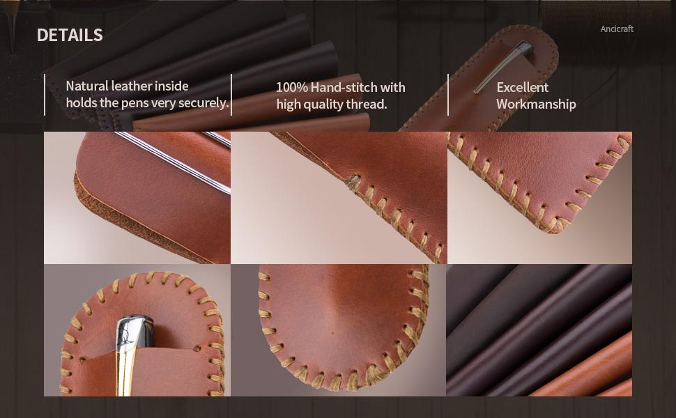 handmade leather pen case