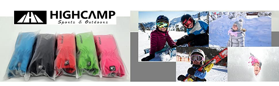 Gloves, Mittens & Liners Highcamp Winter Waterproof Ski Snow Mittens for Toddler Kids Boys Girls with Zipper