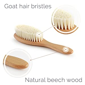 natural bristles baby comb great registry gift idea