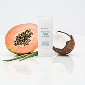 papaya, coconut, vasanti brighten up enzymatic face rejuvenator