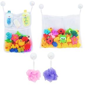 Bath toy organizer toy mesh baby bath toy storage baby bath toys toy storage bag