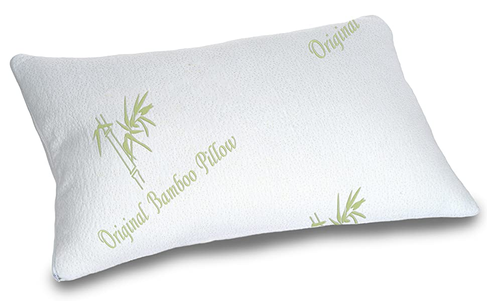 Amazon Com Cooling Bamboo Pillow Adjustable For Back