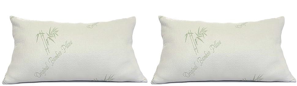 Amazon.com: Pillows for Sleeping - Original Bamboo Pillow - Standard / Queen Size - Adjustable ...