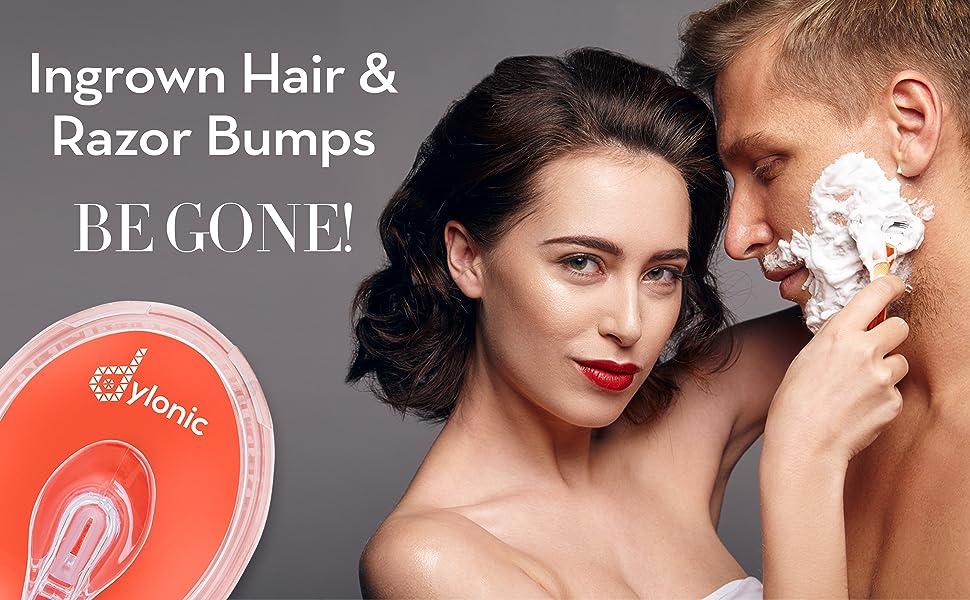 Dylonic Exfoliating Brush Ingrown hairs and razor bumps be gone