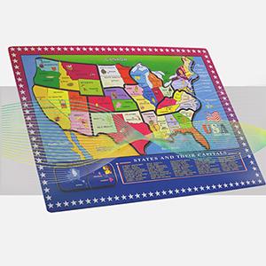 Amazon Com Wondertoys 21 Pieces Wooden Usa Map Puzzle Educational