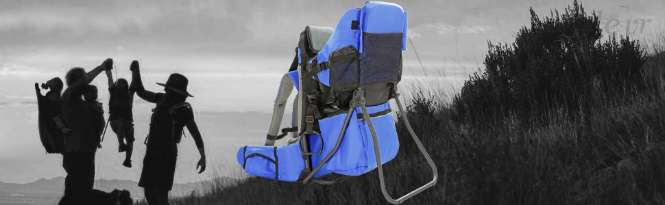 Clevr Cross Country Hiking Child Carrier Baby Backpack, Blue