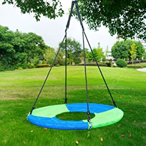 Amazon Com Clevr 40 Round Outdoor Saucer Tree Swing Kids