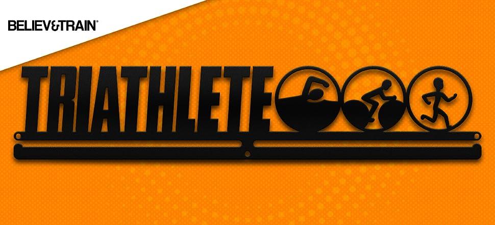 Amazon.com: Triathlon Medalla Colgador – triathlete: Sports ...