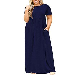 fbccbaa02bb Rotita Womens Plus Size Dresses Casual Summer Maternity Empire Waist ...