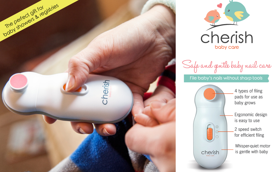 cherish baby care logo baby nail trimmer with features
