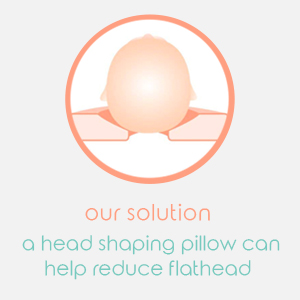 our solution a head shaping pillow can help reduce flat head