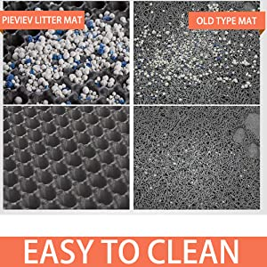 cat mat litter box pan double layer honeycomb large hole litter catch waterproof