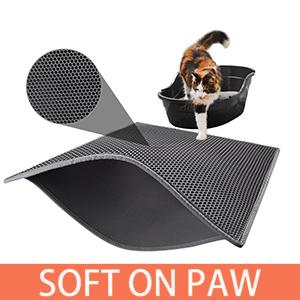 cat mat litter box pan double layer honeycomb large hole litter catch waterproof litter box tray