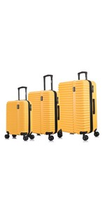 InUSA Ally Yellow Mustard Suitcase luggage