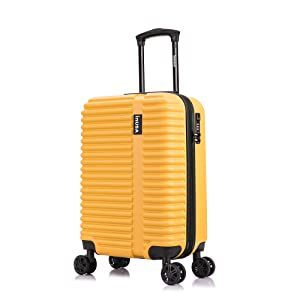 Mustard Yellow InUSA Ally Suitcase Luggage