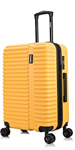 Yellow Mustard InUSA Ally Luggage Suitcase