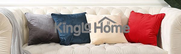 Kingla Home Velvet Pillow Covers 18 x 18 Inch