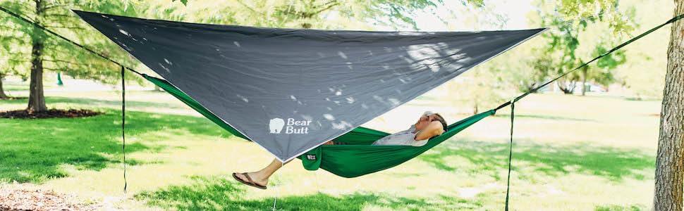 f78555d08 Rain fly for hammock camping hiking light weight tarp backpack rain  protection bear butt rainfly