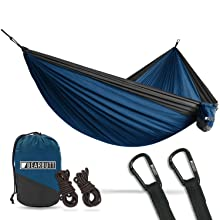 Double hammock lightweight packable outdoor camping parachute hammocks stands straps