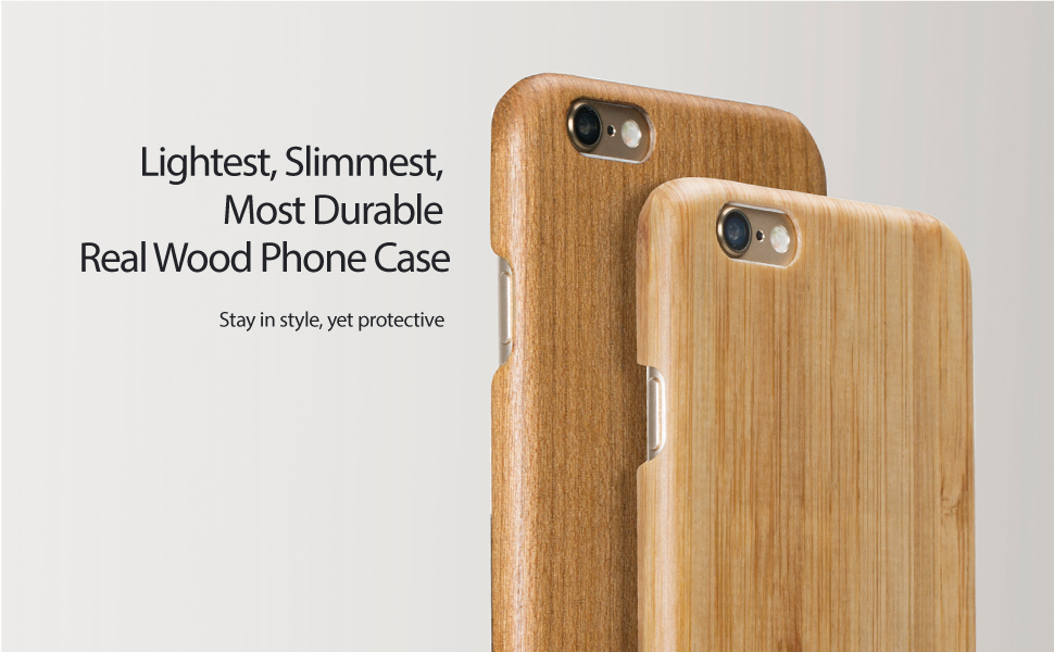 PITAKA Wood Case Compatible with iPhone 6/6s (4 7Inch), [Aramidcore Wood  Series] Genunine Slim Natural Wooden Phone Case - Chicken Wing Wood [with