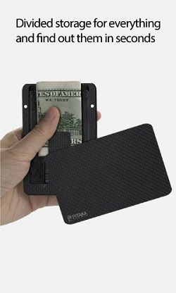Pitaka minimalist carbon magnetic modular card holder slim rfid we offer the layers for cards money clip for cash notes and a box layer where you can hide some keys coins sim cards etc moreover since it is modular reheart Image collections