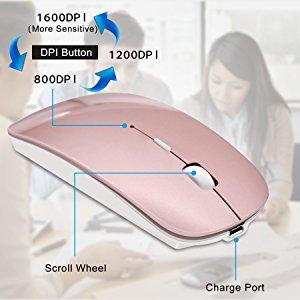 cc799a7c5 Amazon.com  Tsmine Rechargeable 2.4G Slim Wireless Mouse
