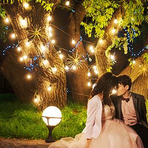 luces de la boda