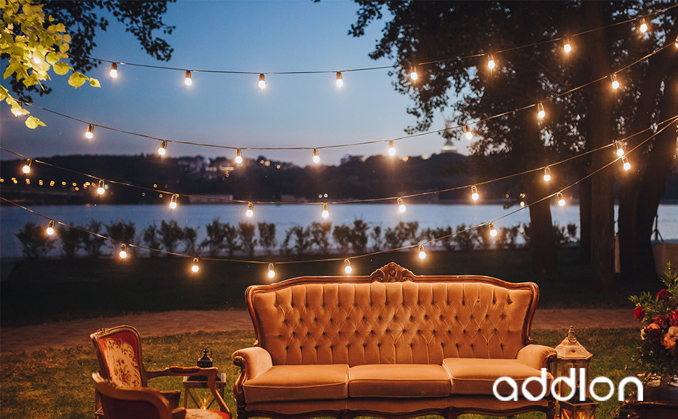 outdoor string lights battery operated outdoor string lights amazoncom addlon 48 ft outdoor string lights commercial great