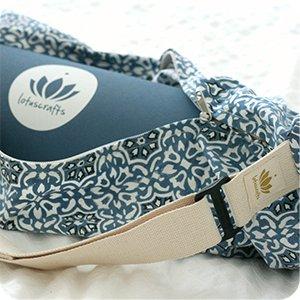Lotuscrafts Yoga Mat Bag Pune - Fair & Ecological - Yoga Bag Made of 100% Organic Cotton - Yoga Bag for Yoga Mat - Yoga Mat Cover - Yoga Mat Carrier ...
