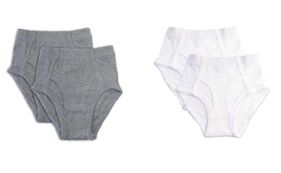 gray and white briefs