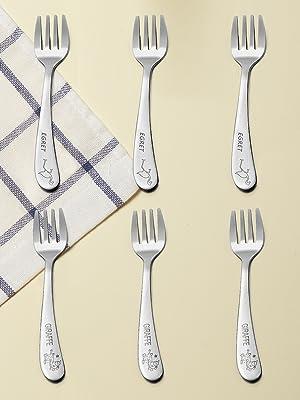 Amazon.com: teamfar bebé tenedor, utensilios bebé de acero ...