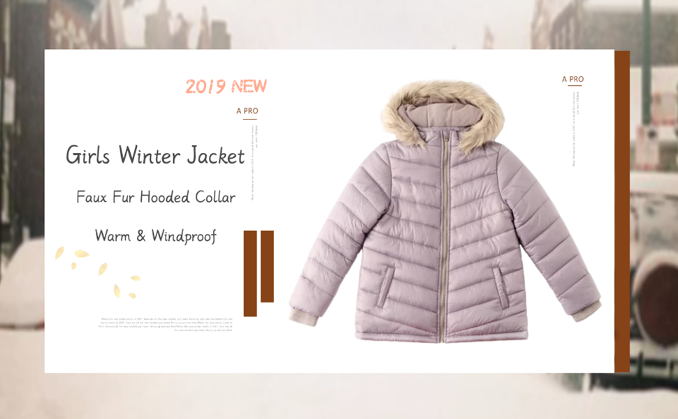 39b3b76ff Amazon.com  Girls Winter Jacket Full Zip Warm Faux Fur Hooded ...