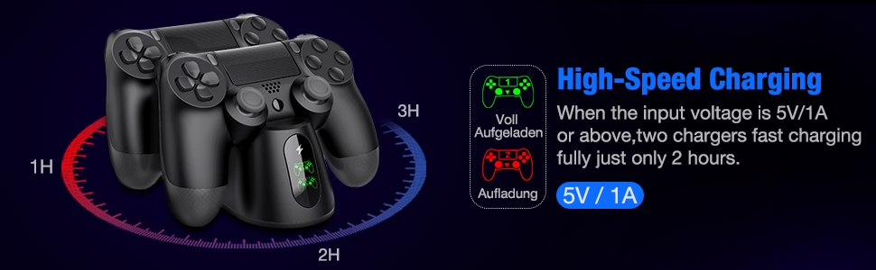 PS4 Controller Charger Fast Charging