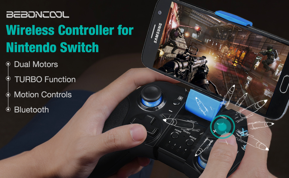 Wireless Controller Support Both Nintendo switch Console and Android Phone/ Tablet