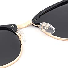 wayfarer sun glasses for men clubmaster semi rimless polarized sunglasses