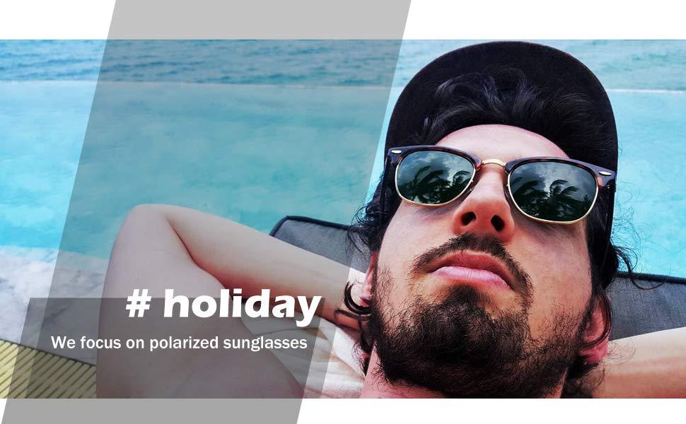 Glasses 100Uv For Sun Blocking Sunglasses WomenSemi Frame Polarized Driving Men Rimless And stdxrhQC