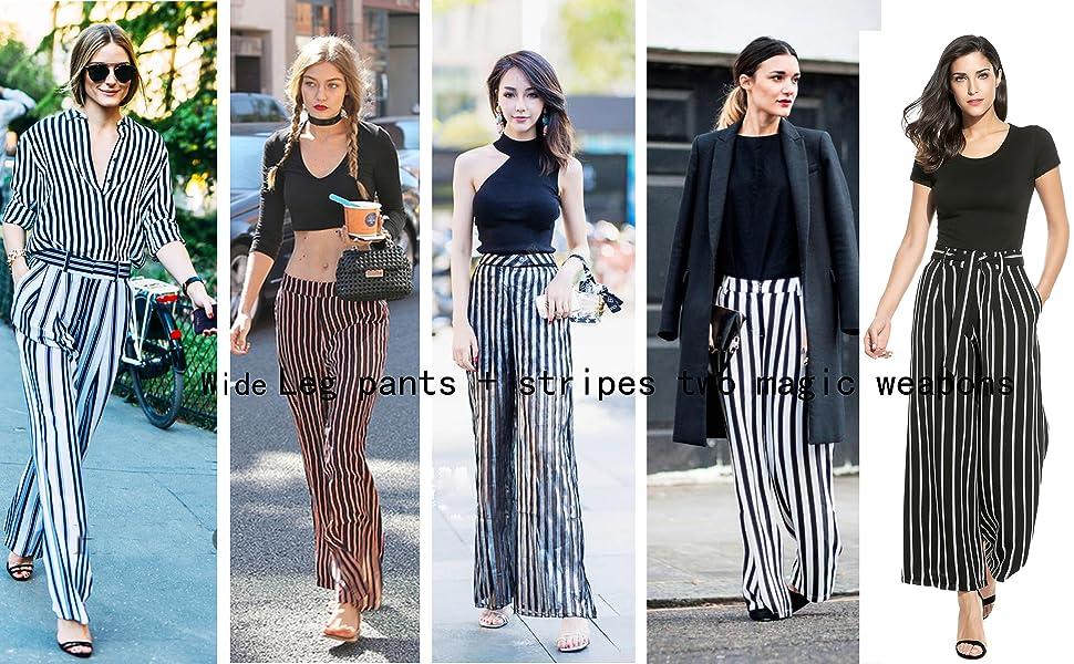 Fashion Womens Contrast Side Striped High Waisted Stretch Leggings New Ladies GW