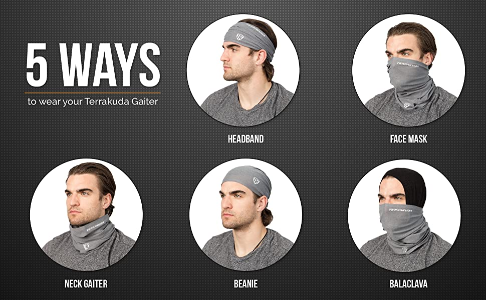 5 ways to wear the neck gaitor.