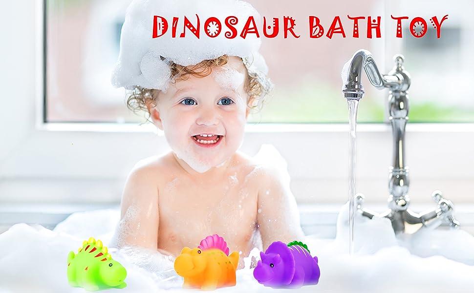 Amazon.com: kizh Bath Toys Squirts Bath Toy Set Small Dinosaur 6 ...