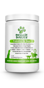 Probiotics for dogs with prebiotics, grain free, made in the usa