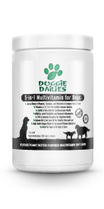 5 in 1 daily multivitamin for dogs, grain free, made in the usa