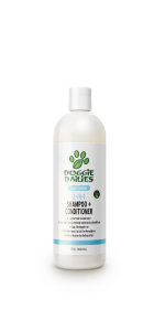 Dog shampoo and conditioner in one, paraben free, soap free, made in the USA