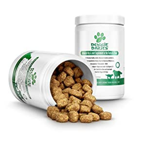 Joint supplement for dogs with glucosamine, chondroitin, MSM, made in the USA