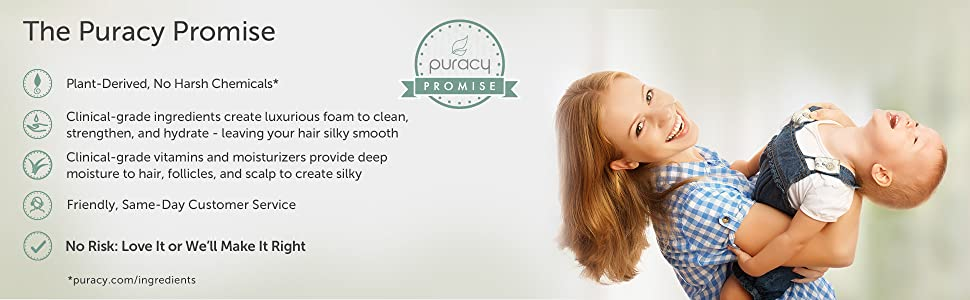 Puracy Natural Shampoo and Natural Conditioner Set Promise